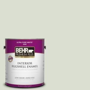 Behr Premium Plus 1 Gal Ppl 47 Sage Tint Eggshell Enamel Low Odor Interior Paint And Primer In One 205001 The Home Depot Interior Paint Exterior Paint Paint Primer