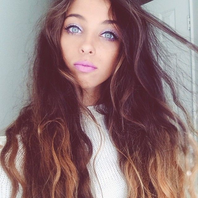 Intense Purple Makeup Ombre Hair Sombre Hair Blue Eyes