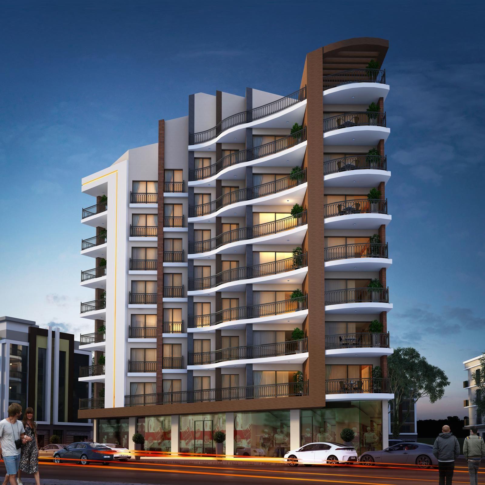 mimarlk mimari cephe tasarm 3d building design facade architecture architectural - 3d Building Designs