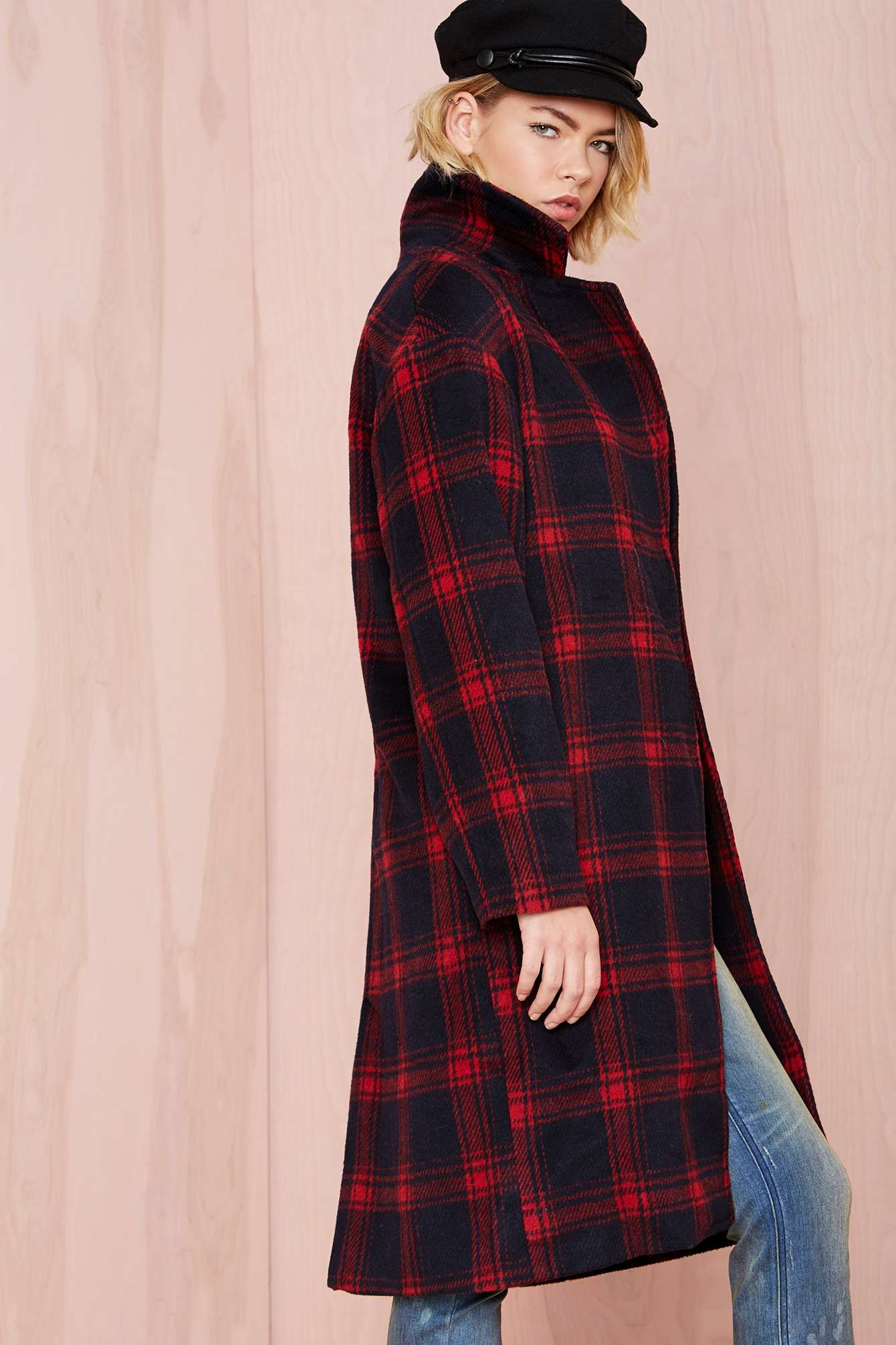 Dress with flannel around waist  Plaid Intentions Coat at Nasty Gal  N E E D  Pinterest  Chelsea
