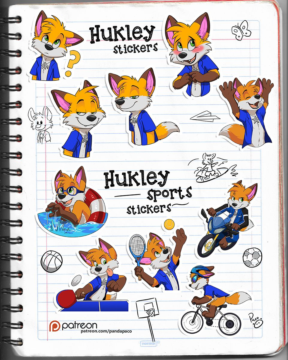 Hukley stickers by pandapaco | stickers | Furry art, Stickers, Art