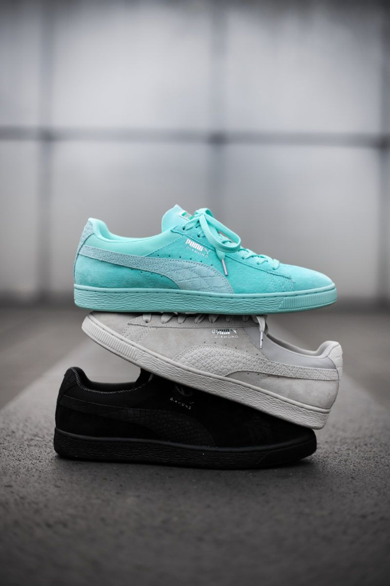 28e955ca78f9 puma diamond supply on feet 19 Diamond Supply Co. Makes the Puma Suede for Skate  eukicks