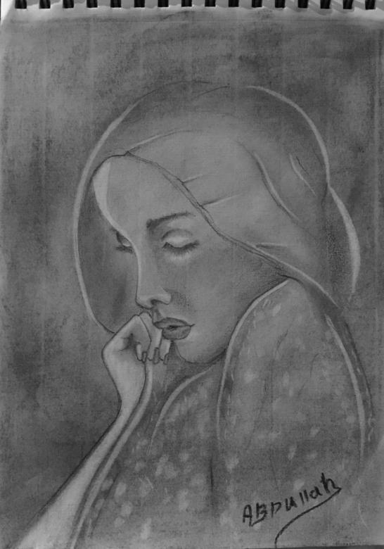 ملامح خجوله رسم بالرصاص Art Painting Art Interesting Faces