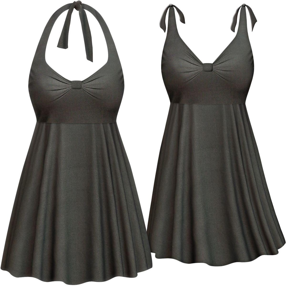 2a24681d64c01 2pc Plus Size Swimsuit Swimdress 0x1x 2x 3x 4x Supersize 5x 6x 7x 8x Halter  or Shoulder Strap! XL to 8x Man… | Sanctuarie Plus Size Swimwear & Coverups  ...