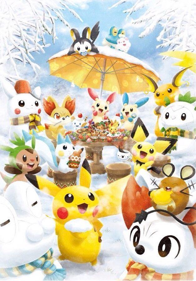Pokemon Winter Wonderland Pokemon Christmas Pokemon Pokemon Decal