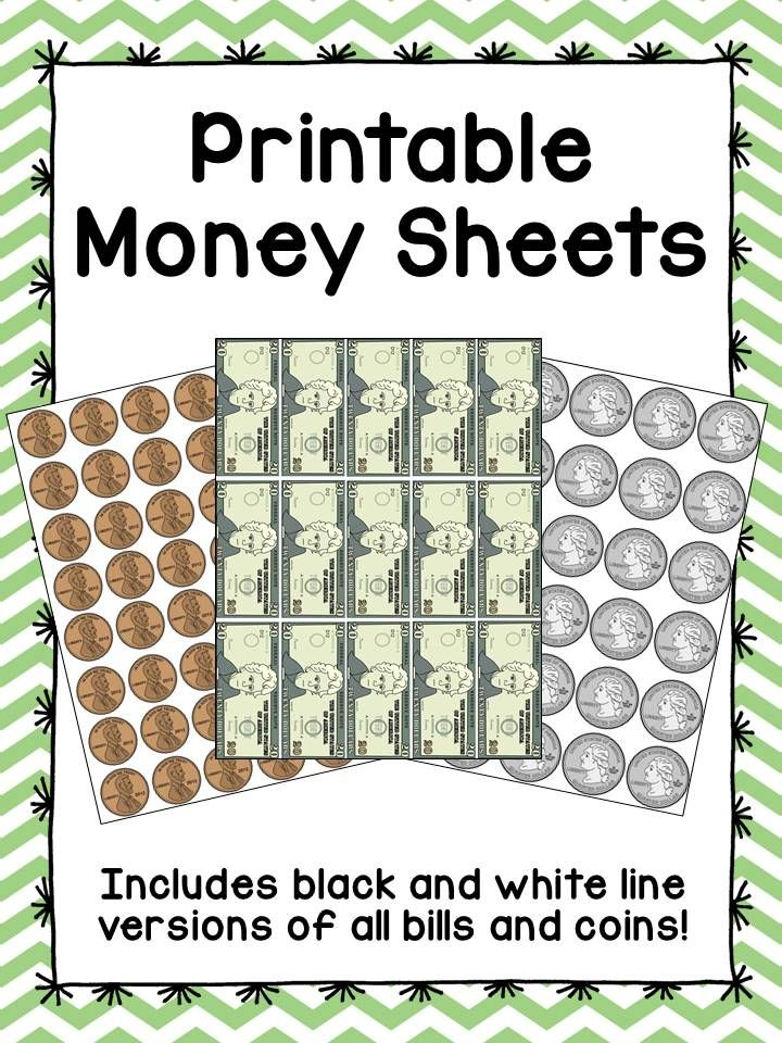 graphic about Printable Money for Classroom identify Printable Cash Sheets - Clroom Financial state Small children discover excellent