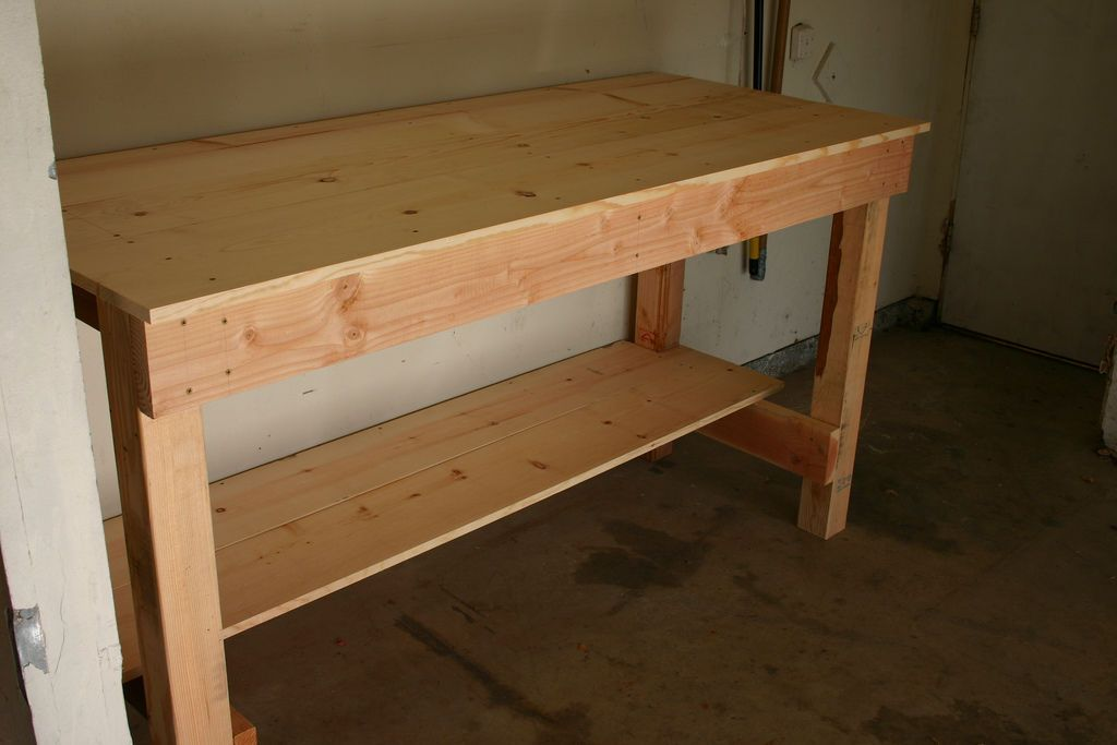 Workbench ideas on pinterest workbenches work benches for Working table design ideas