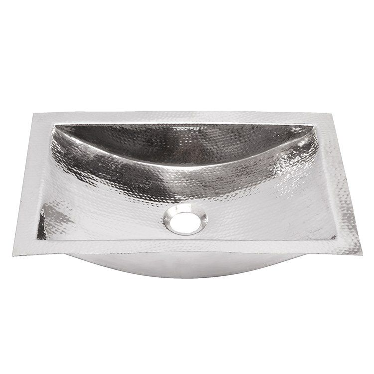 Brightwork Home 19 8 Single Bowl Hand Hammered Stainless Steel
