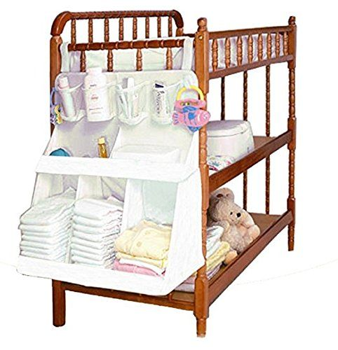 Baby Crib Storage Bag Hanging Diapers Nursery Bed Bedside Organizer C