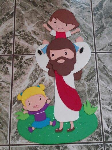 Jesus en foami escuela sabatica pinterest sunday - Manualidades para adultos ...