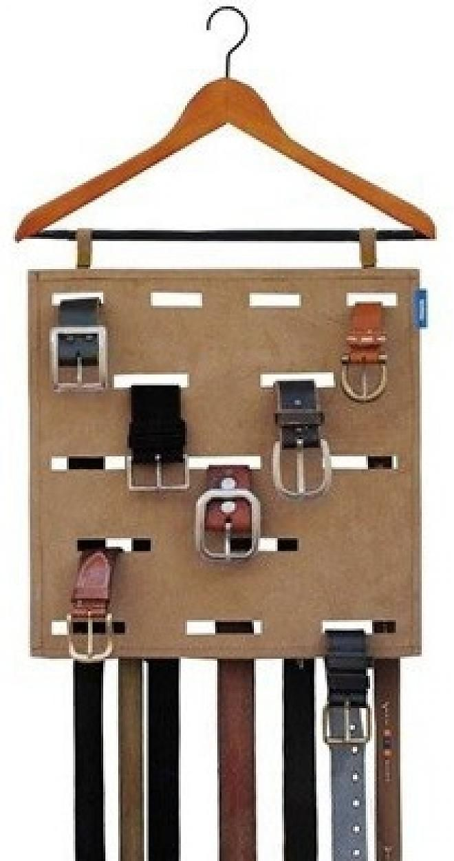 Hang His Belt Organizer ~ I Really Like This One B/c Itu0027ll Hold Even The  Belts With A Solid Buckle.