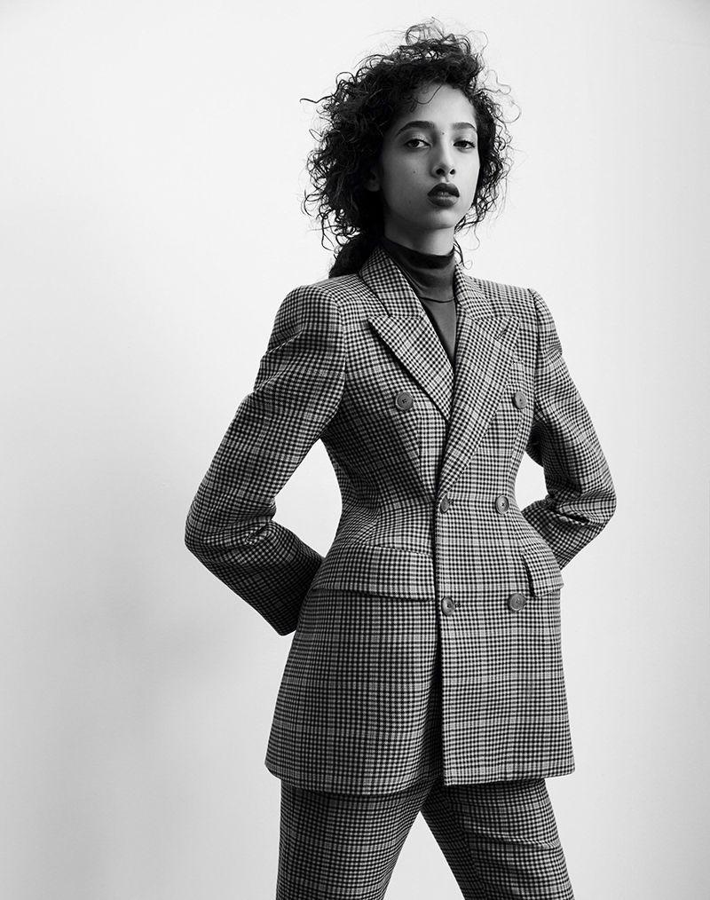 Yasmin Wijnaldum by Roe Ethridge for Vogue China January 2017 - Balenciaga