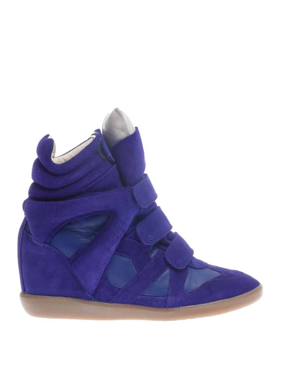Burt suede and leather trainers | Isabel Marant | MATCHESFASHI...