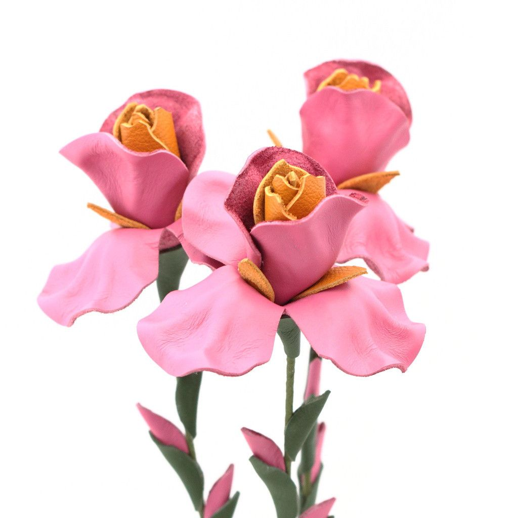 Leather Iris Flower Bouquet Candy Pink Flower Bouquets And Iris