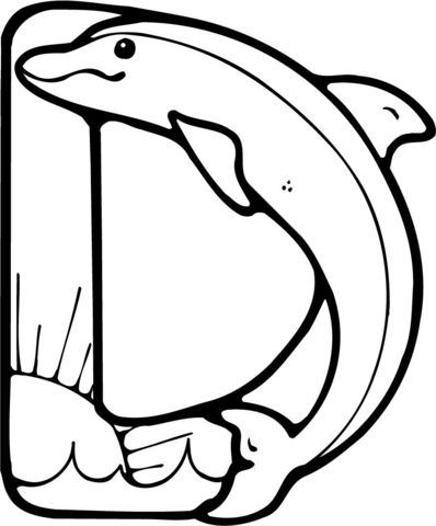 Letter D Is For Dolphin Coloring Page Dolphin Coloring Pages