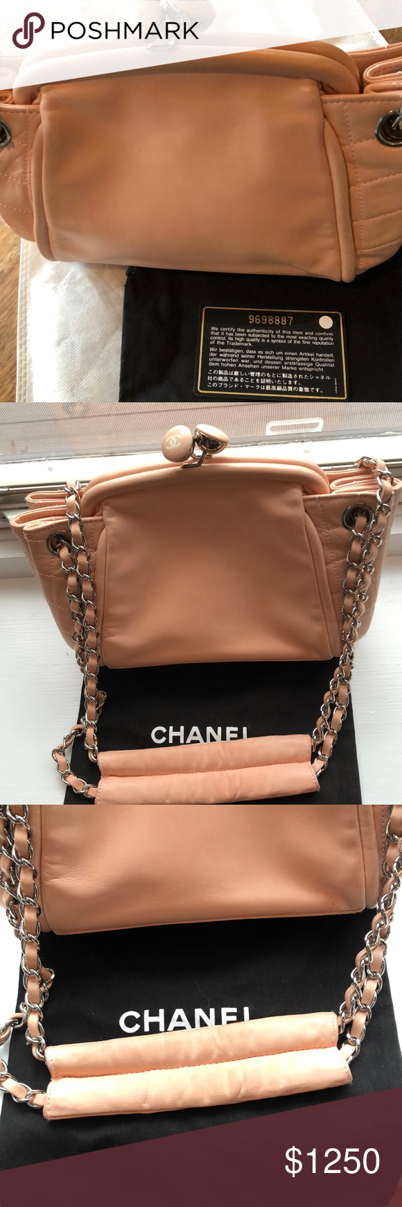 130742b9fd02 I just added this listing on Poshmark: Chanel Pink Blush Lambskin kisslock  Shoulder Bag. #shopmycloset #poshmark #fashion #shopping #style #forsale # CHANEL ...
