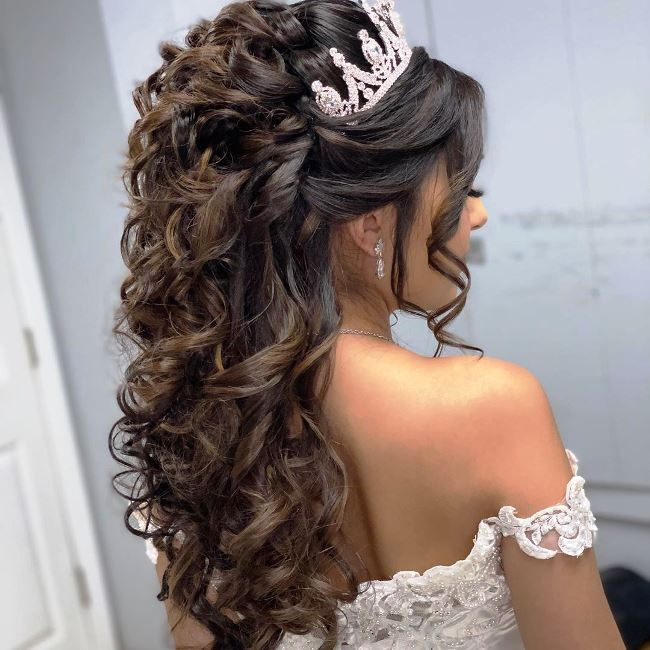 Quinceanera hairstyles braids in 2020   Quince hairstyles ...
