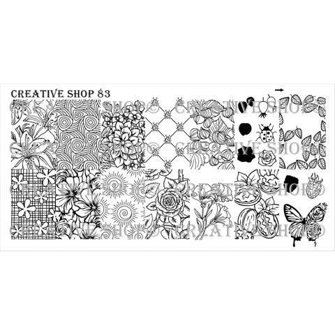 Creative Shop- Stamping Plate- 83