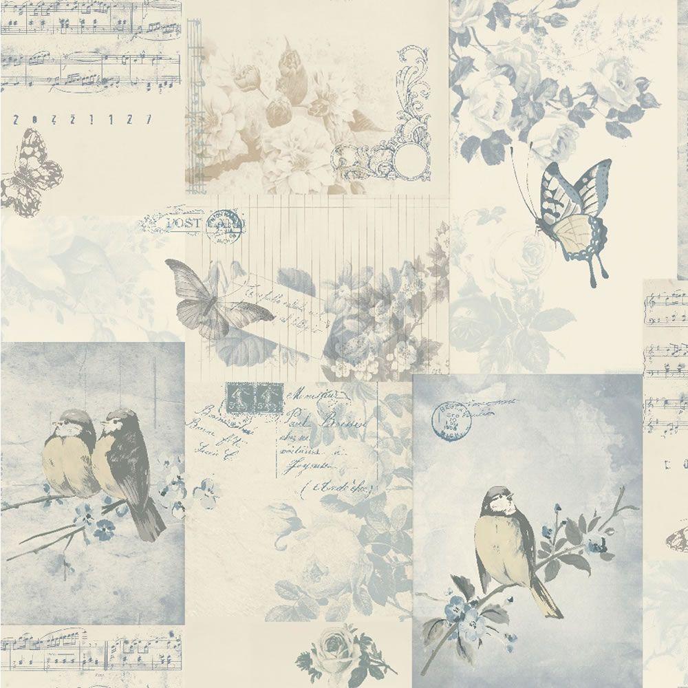 Songbird Soft Blue Wallpaper At Wilko.com