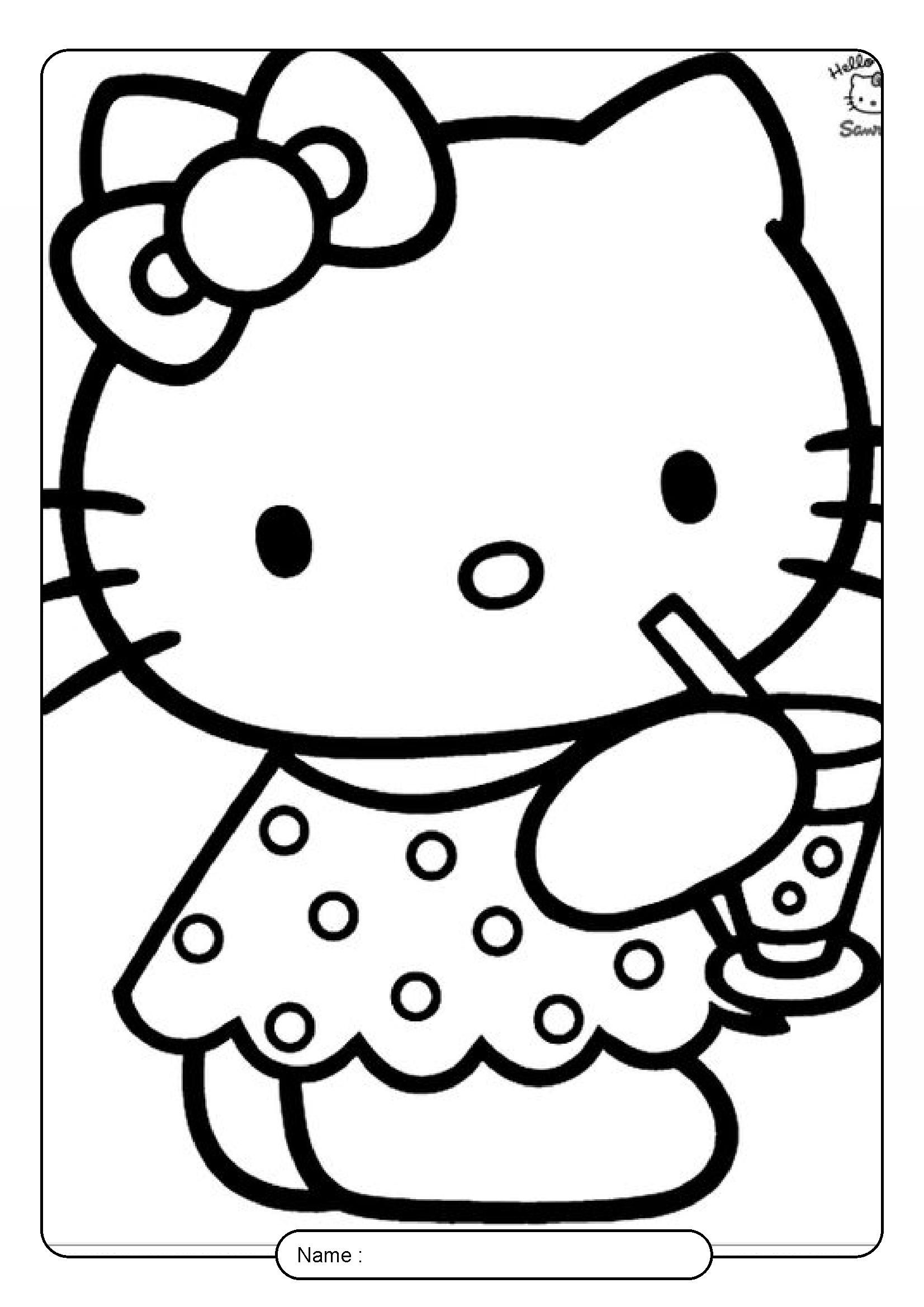 Kitty Drinks Juice Hello Kitty Coloring Pages In 2021 Hello Kitty Coloring Kitty Coloring Hello Kitty Colouring Pages