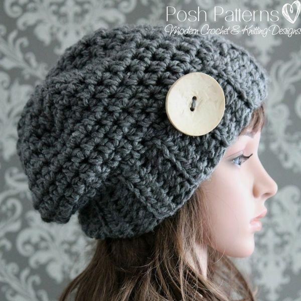 Elegant Slouchy Hat Crochet Pattern My Next Projects Pinterest