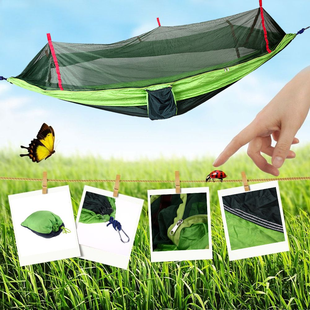 Outdoor hammock mosquito net travel camping hammock portable