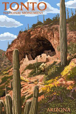 Tonto National Monument, Arizona - Lantern Press Poster