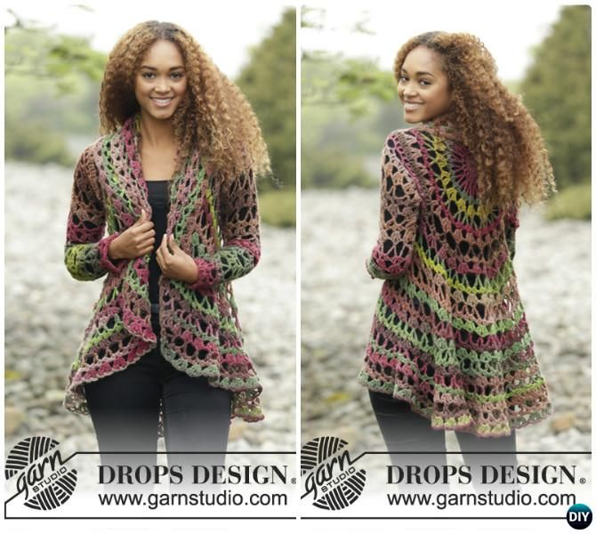 DIY Crochet Circular Vest Sweater Jacket Free Pattern with Video ...