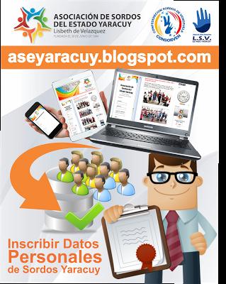 """Asociación de Sordos del Estado Yaracuy: """"AVISO IMPORTANTE"""" - Inscribir Datos Personales de..."""