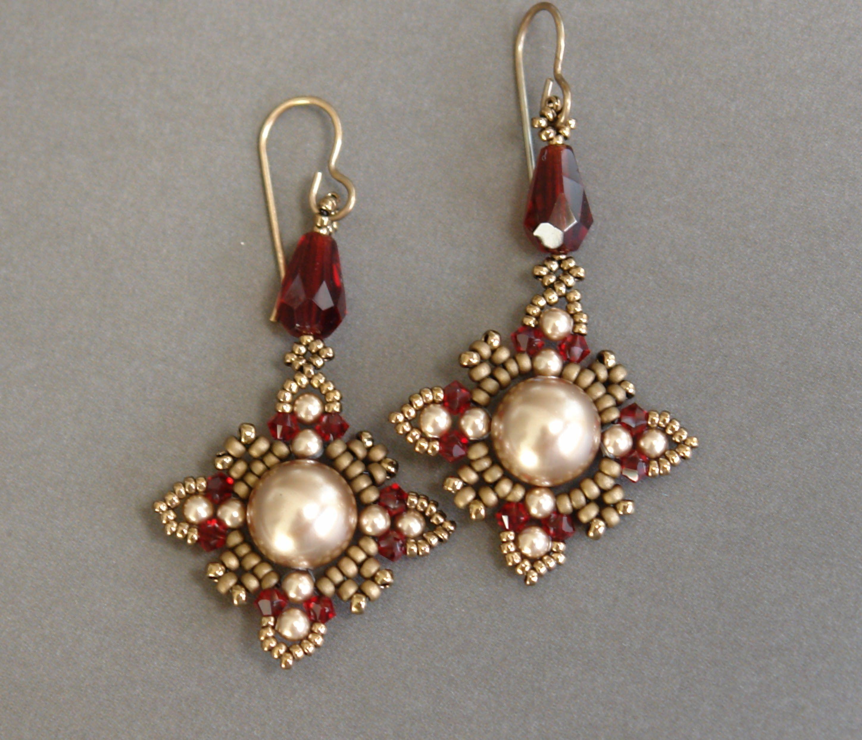 Video: Sidonia's Handmade Jewelry  Oriental Earrings Beading Tutorial ( Pearls, Seed Beads,