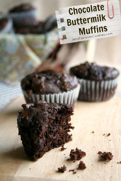 Chocolate Buttermilk Muffins Recipe Buttermilk Recipes Buttermilk Muffins Chocolate Chip Muffins