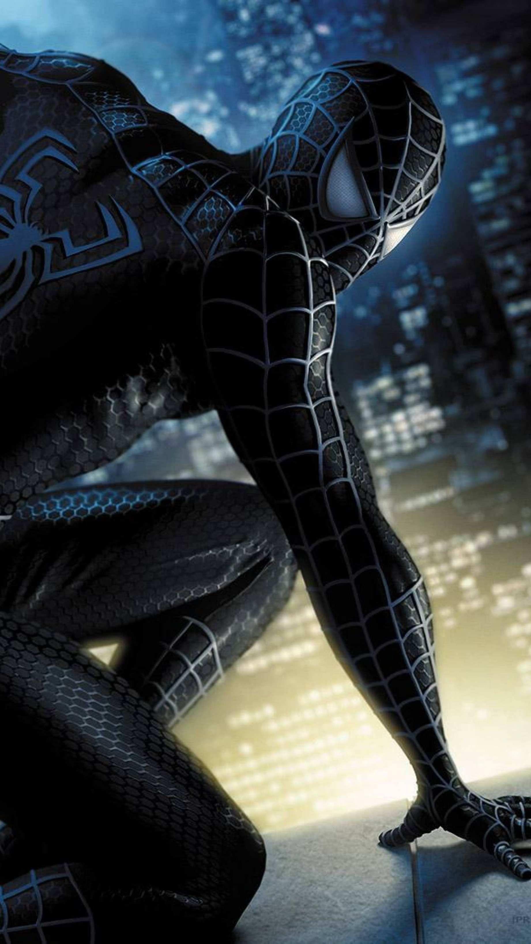 Black Spidey iPhone Wallpaper 1 Black spiderman