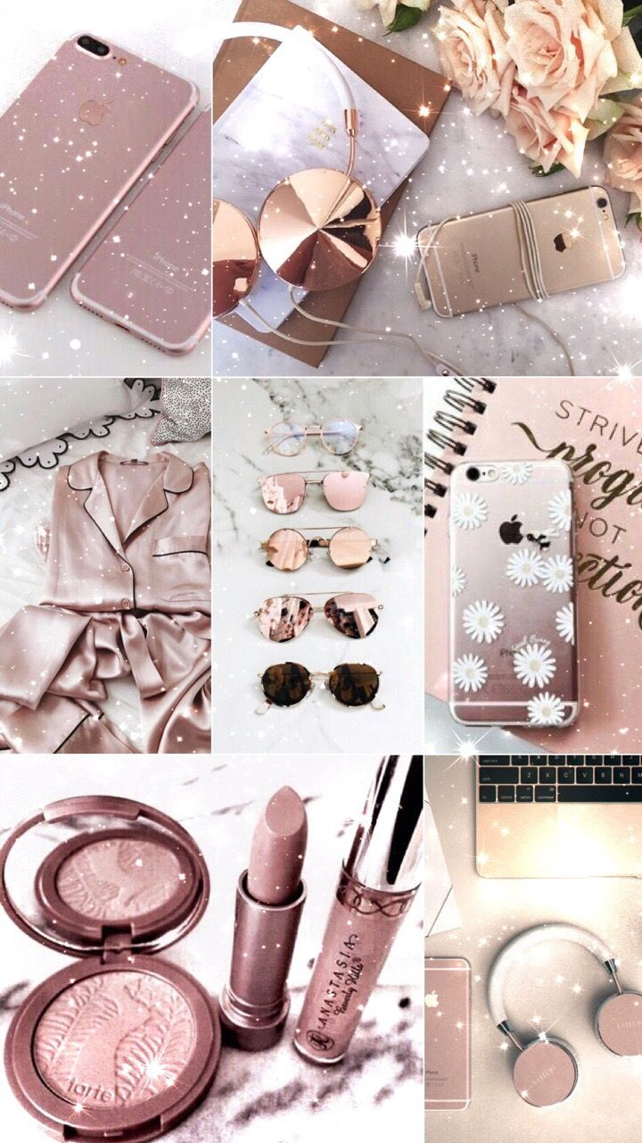 Rosegold Collage Moodboards Pink Inspiration Photography