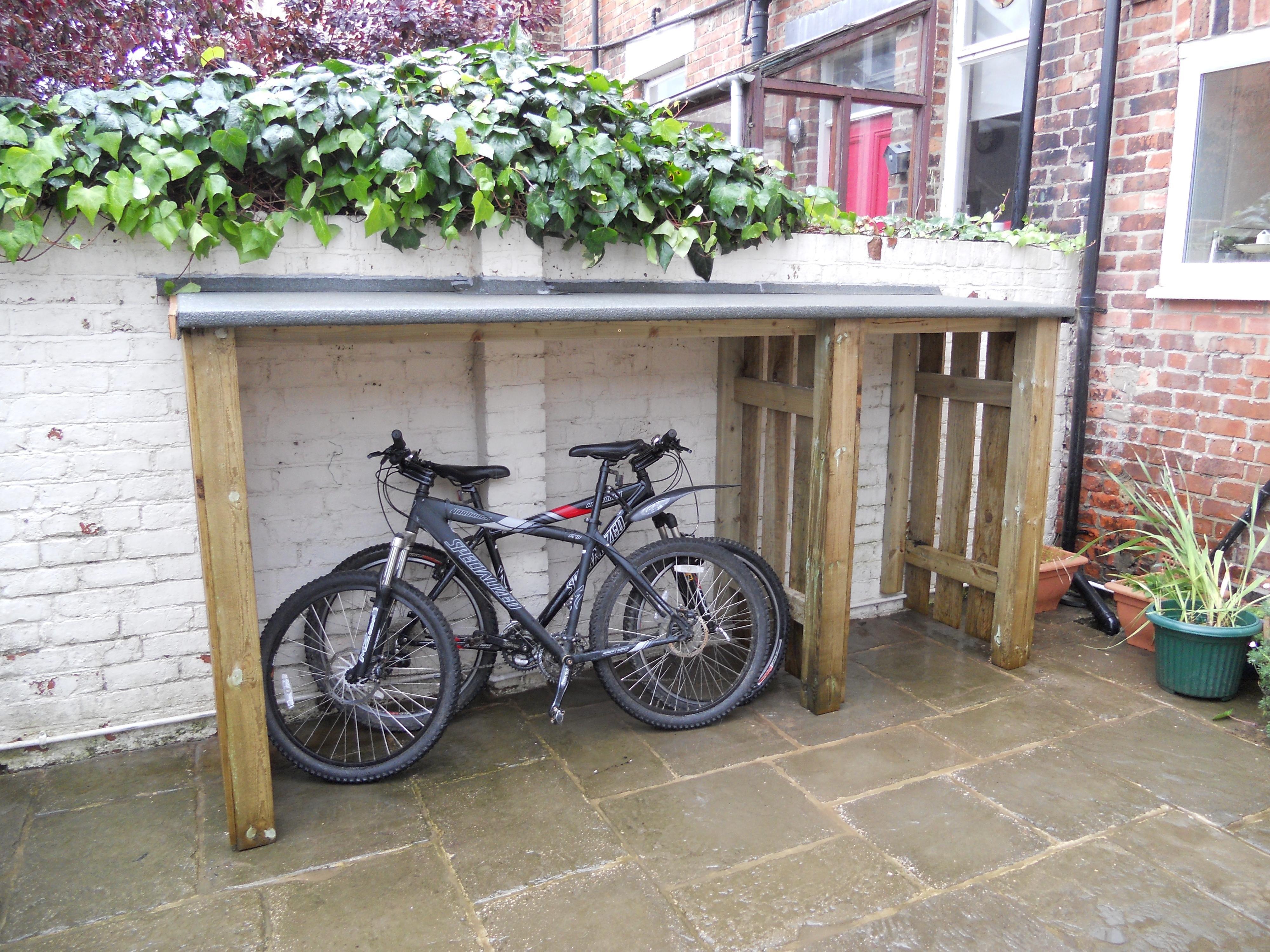 Rob Parkin Bike Storage Diy Outdoor Bike Storage Bike Storage