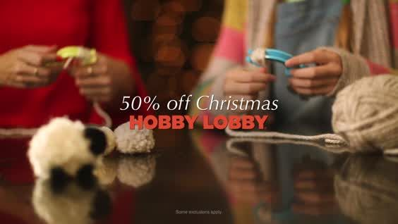 50 off Christmas at Hobby Lobby Christmas is #WhatYouMakeIt