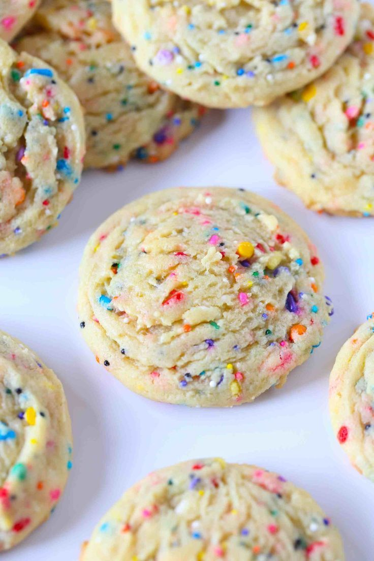 Soft Sprinkle Pudding Cookies   The BEST Sugar Coo
