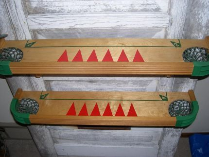 Gameboard Shelves (from Junkmarket Style) Must Make These Someday! Too Cool!