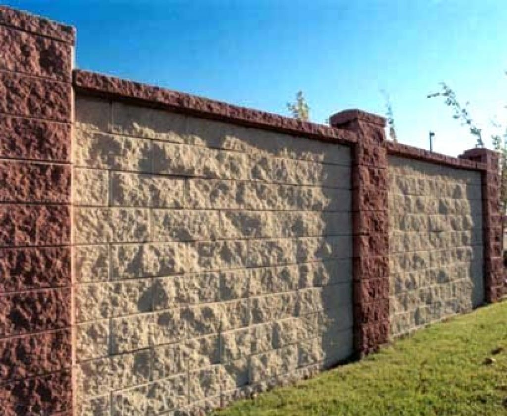 Cement Block Fence Designs With Images Concrete Block Walls Fence Design Concrete Blocks