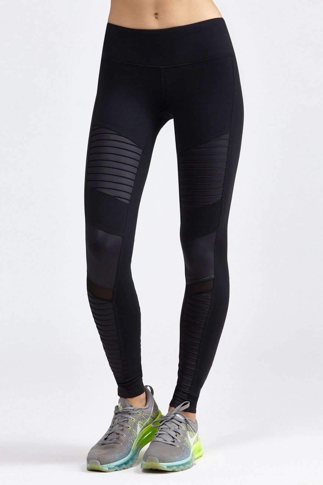 01909f2ea799 ALO s Moto Legging is an on-trend motorcycle inspired legging that features  quilted-style stitchi.