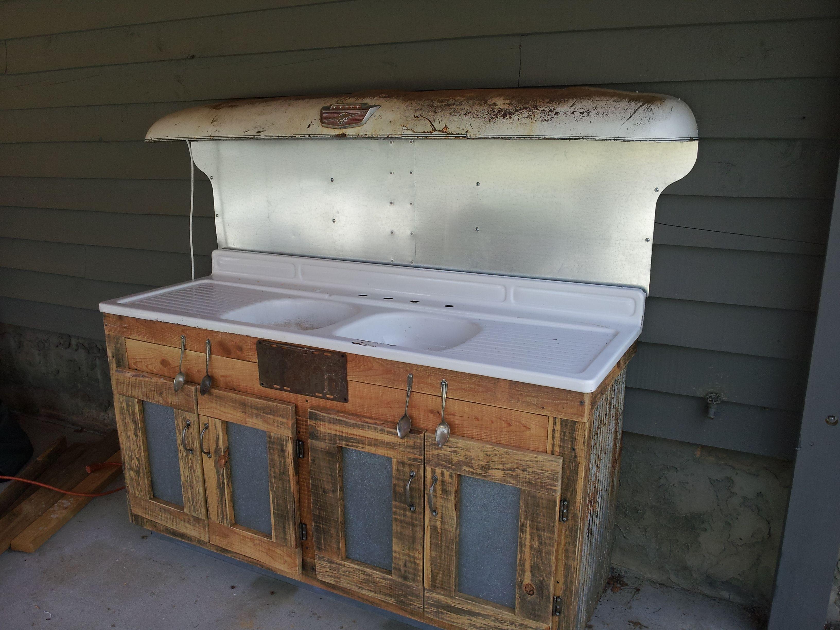 an enameled steel double sideboard sink rough cut sawmill. Black Bedroom Furniture Sets. Home Design Ideas