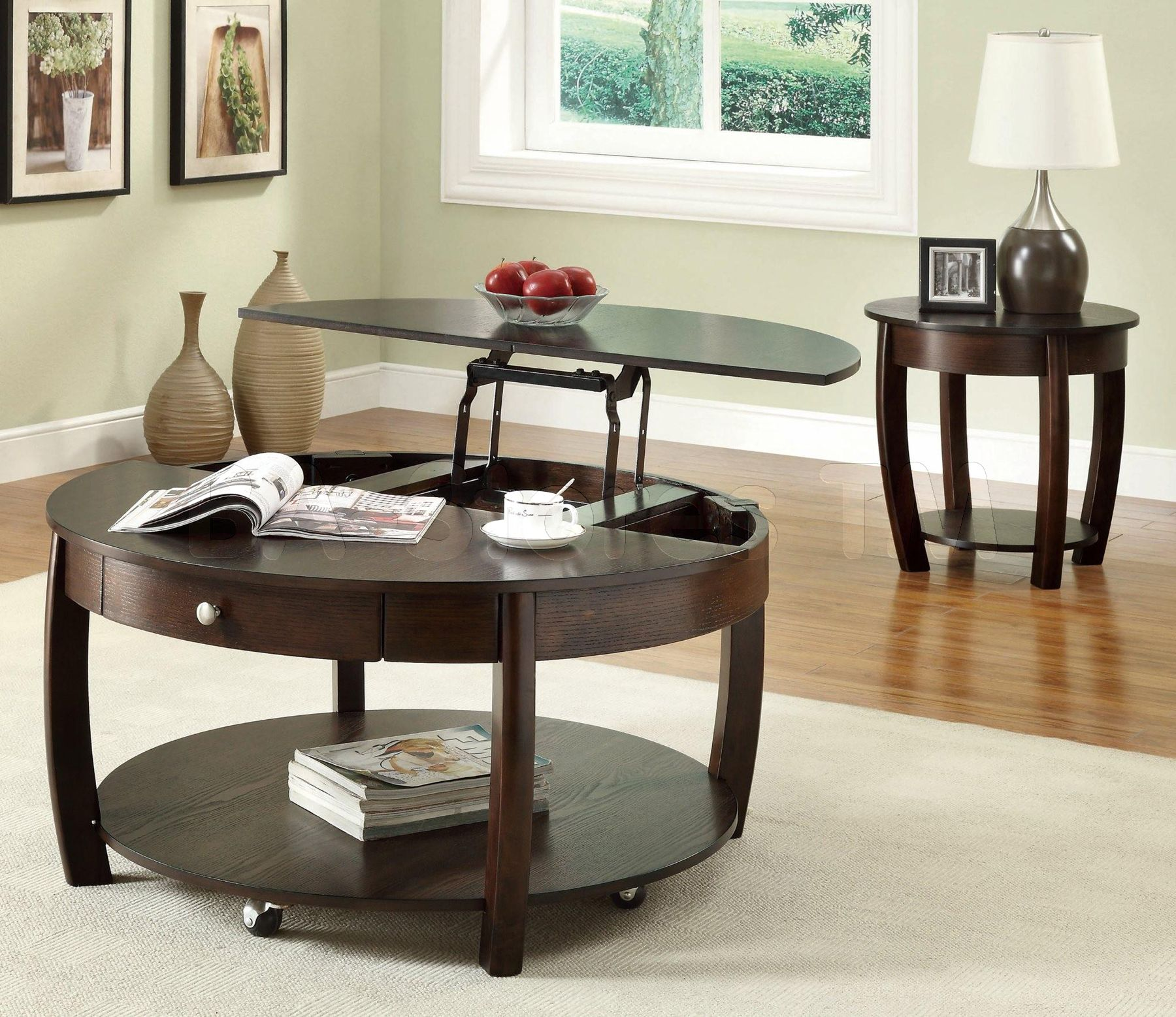 Convenience From Lift Top Coffee Tables : Round Coffee Table With Lift Top.