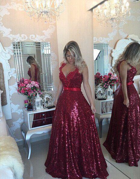Burgundy Prom Dress Evening Ball Gown Party Dresses pst0703 Mulher  Elegante, Vestidos Festa, Roupas d3e386546572