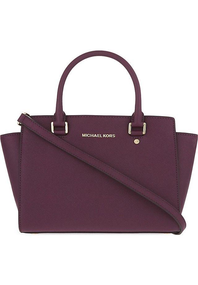 bd1789f42b Michael Michael Kors Selma medium Saffiano leather satchel ($365) ❤ liked  on Polyvore featuring