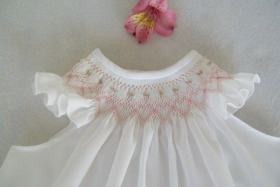 hand smocked baby dress - heirloom quality - made in usa
