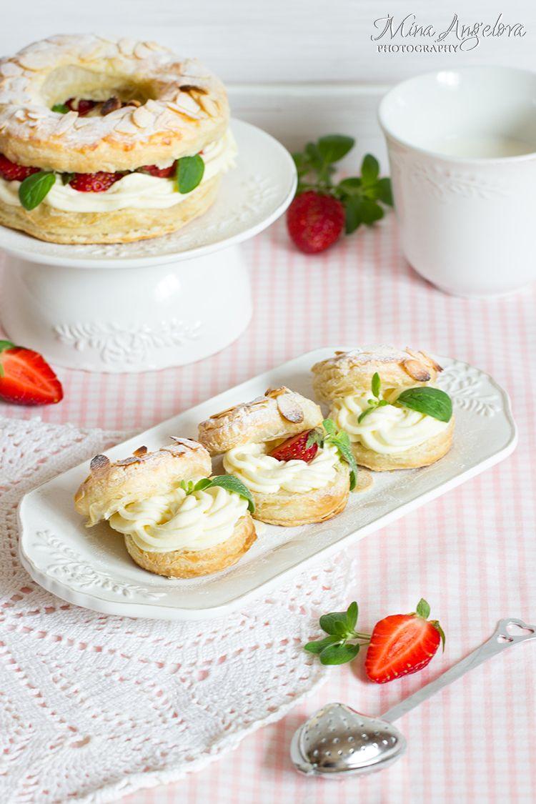 Angellove's Cooking: Френски сладкиш Париж-Брест с бутер тесто / Puff Pastry Paris-Brest