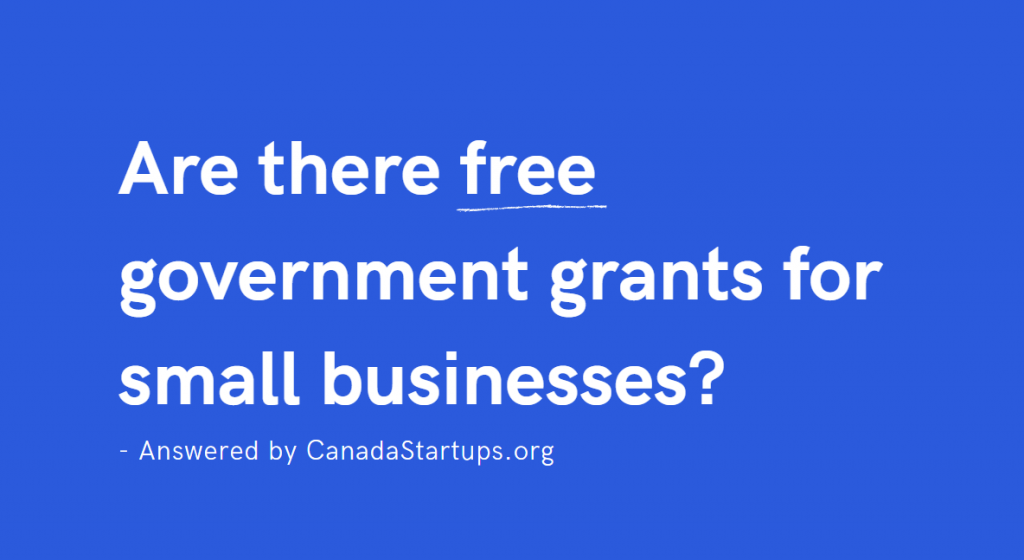 How to get a small business government grant Canada