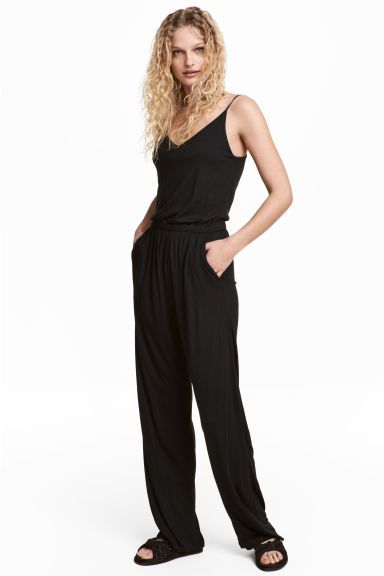 807845a39d53 Jersey jumpsuit - Black - Ladies