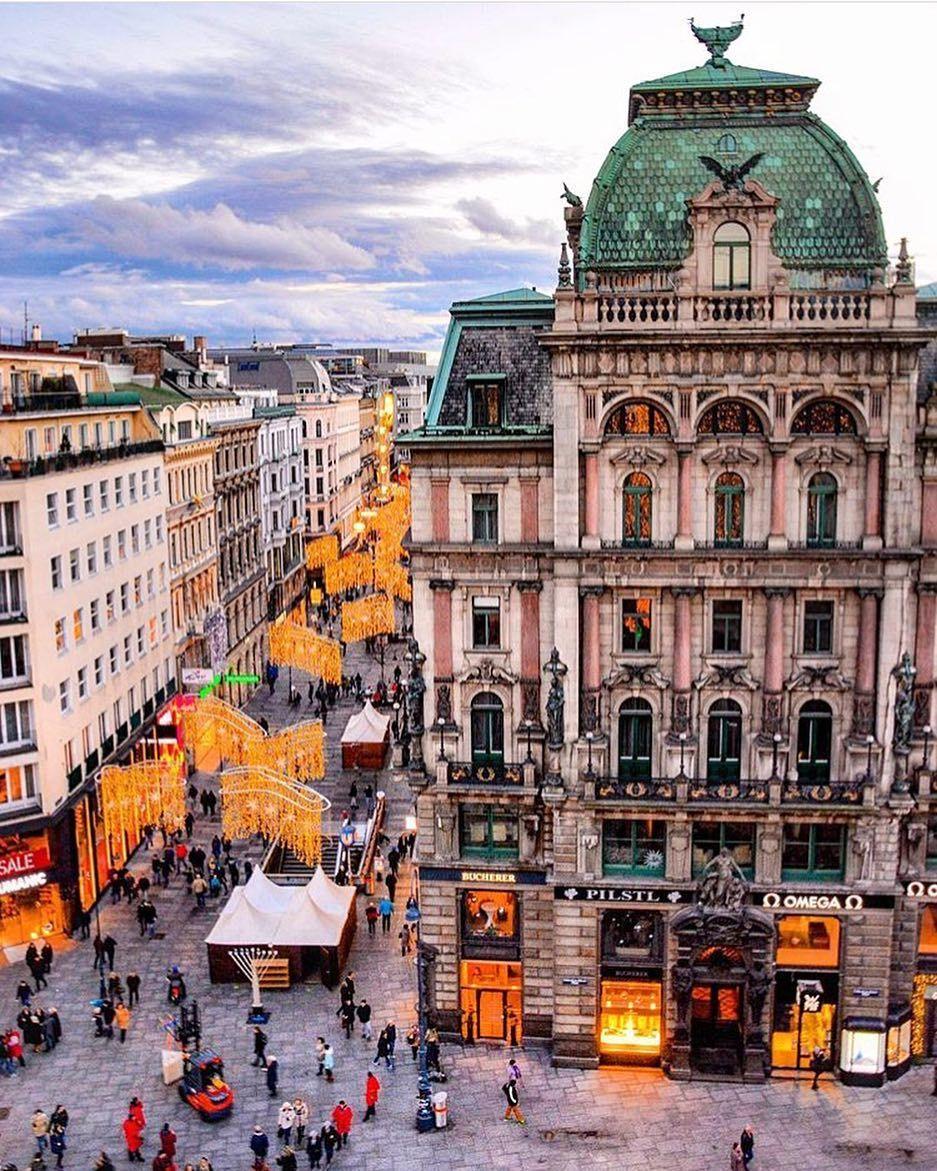 Stephansplatz Vienna Austria Photographie urbaine, Beaux