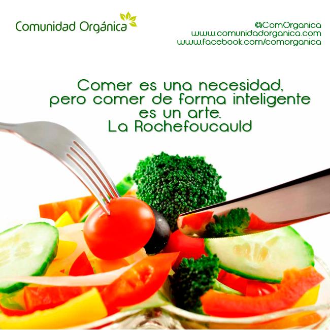 Cuida tu cuerpo comiendo de manera adecuada. La idea no es comer menos, es comer bien http://bit.ly/ComOrganica