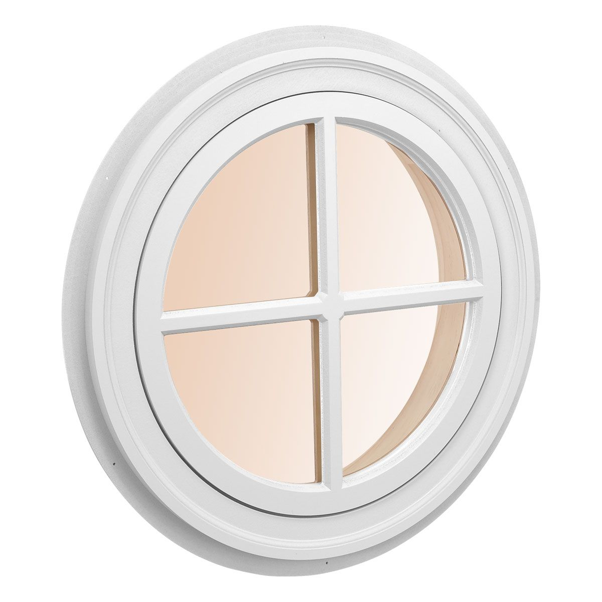 Custom Size Round Decorative Window, Architectural